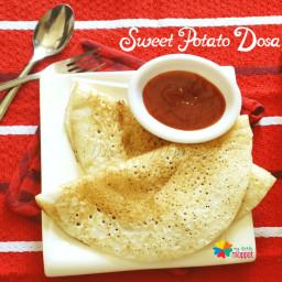 Sweet Potato Dosa  Sarkarai Valli Kizhangu Dosa Recipe