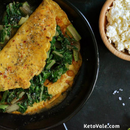 Swiss chard & Spinach Omelet