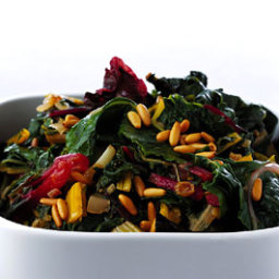 Swiss Chard with Raisins and Pine Nuts