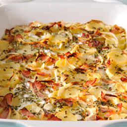 Swiss Style Potato and Bacon Philly Bake