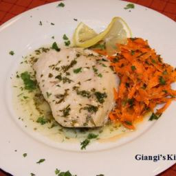 Swordfish with Lemon, Parsley and Butter Sauce