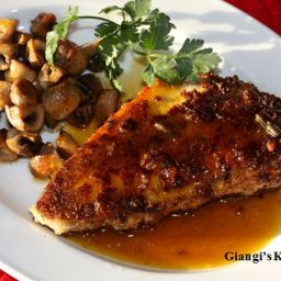 Swordfish with Orange Caramel Sauce
