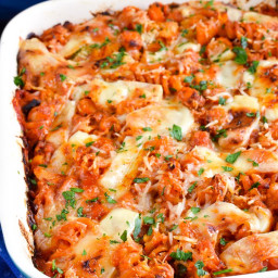 Syn Free Roasted Butternut Squash and Zucchini Pasta Bake