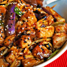 Szechwan Eggplant and Pork Stir-Fry