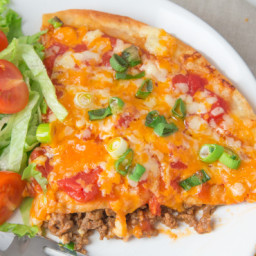 Taco Bell Style Mexican Pizzas