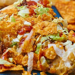 Taco Pizza with Homemade Pizza Dough