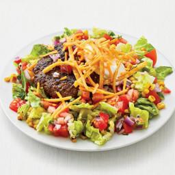 Taco Salad w/Spiced Beef Patties