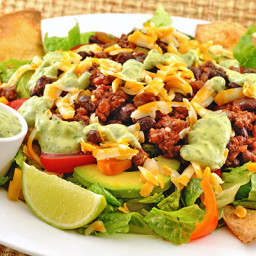 Taco Salad with Avocado-Cilantro Dressing