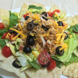Taco Salad with Cauliflower and Ground Turkey