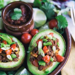 Taco-Stuffed Avocado Recipe