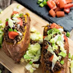 Taco-Stuffed Sweet Potatoes Recipe