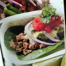 Tacos with jicama shells