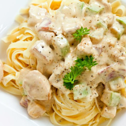 Tagliatelle with Chicken and Feta sauce