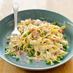 Tagliatelle with Prosciutto and Peas