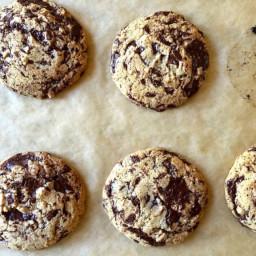 Tahini Chocolate Chip Cookie (gluten free, dairy free, soy free, vegan)