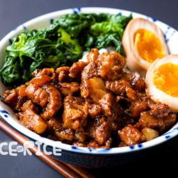 Taiwanese Braised Pork Belly (Lu Rou Fan) - Instant Pot or Slow Cooker