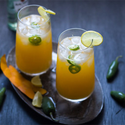 Tall Mango Jalapeno Fizzy Cocktail