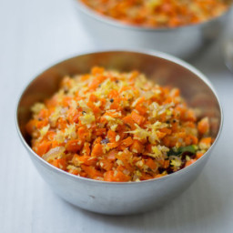 Tamilnadu Style Carrot Poriyal