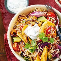 Tandoori chicken rice salad