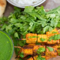 Tandoori Tofu Skewers (Spicy)