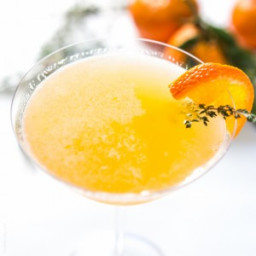Tangerine and Honey Thyme Martini