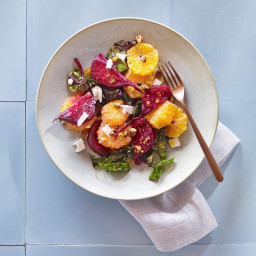 Tangerine and Roasted Beet Salad with Feta and Pistachios