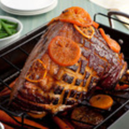 Tangerine-Glazed Easter Ham With Baby Carrots