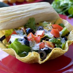 Taquito and Tamale Taco Salad Recipes