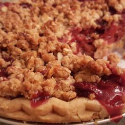 Tart Cherry Bourbon Pie