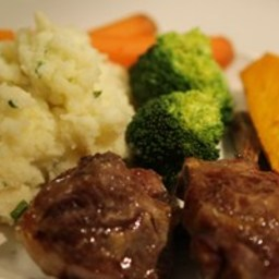 TasteMag: Honey & Mustard Lamb Chops with Buttermilk Mash