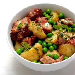 TasteMag: Warm Lamb and Potato Salad with a Mint Dressing