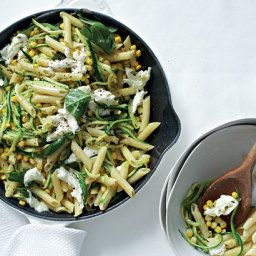 TastMag: Pasta with Corn, Shredded Marrows and Mozzarella