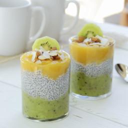 Tasty Mango Kiwi Chia Seed Pudding Recipe