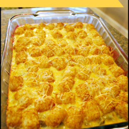 Tater Tot Breakfast Casserole - Food Fun Friday