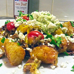 Tater Tots Covered in Taco Parts