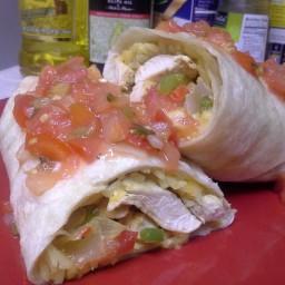 TBC's Chicken Fajita Burrito
