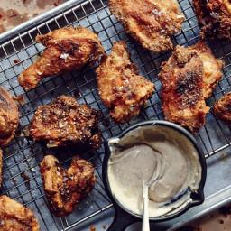 Tea-Brined Buttermilk Fried Chicken and Gravy