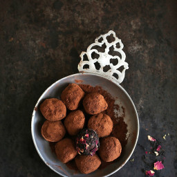 Tea Rose Chocolate Truffles