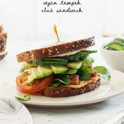 Tempeh Vegan Club Sandwiches
