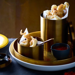 Tempura squid with ponzu