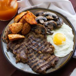 Tender Steak with Mushroom