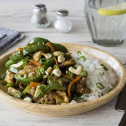 Tender Stir-Fried Pork with Black Bean Sauce and Cashew Nuts