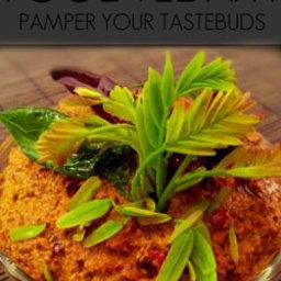 Tender tamarind leaves chutney - Chinta chiguru pachadi