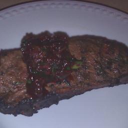 Beef Tenderloin with Cherry Salsa