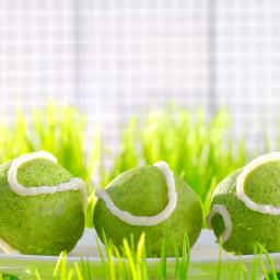 Tennis Ball Spinach Cakes