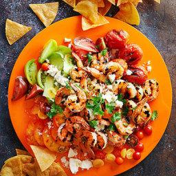 Tequila Shrimp Nachos