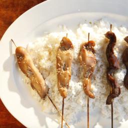 Teriyaki Chicken and Beef Skewers Recipe — The Mom 100