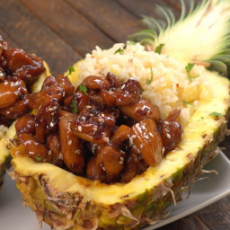 Teriyaki Chicken Pineapple Boats