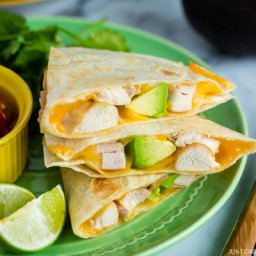 Teriyaki Chicken Quesadilla