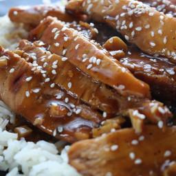TERIYAKI CHICKEN with Asian flavored quinoa